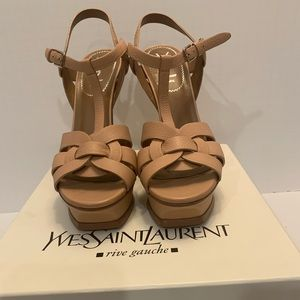 Saint Laurent YSL tribute 105 nude sandal Size 9